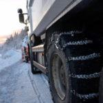 trygg kæde på lastbil